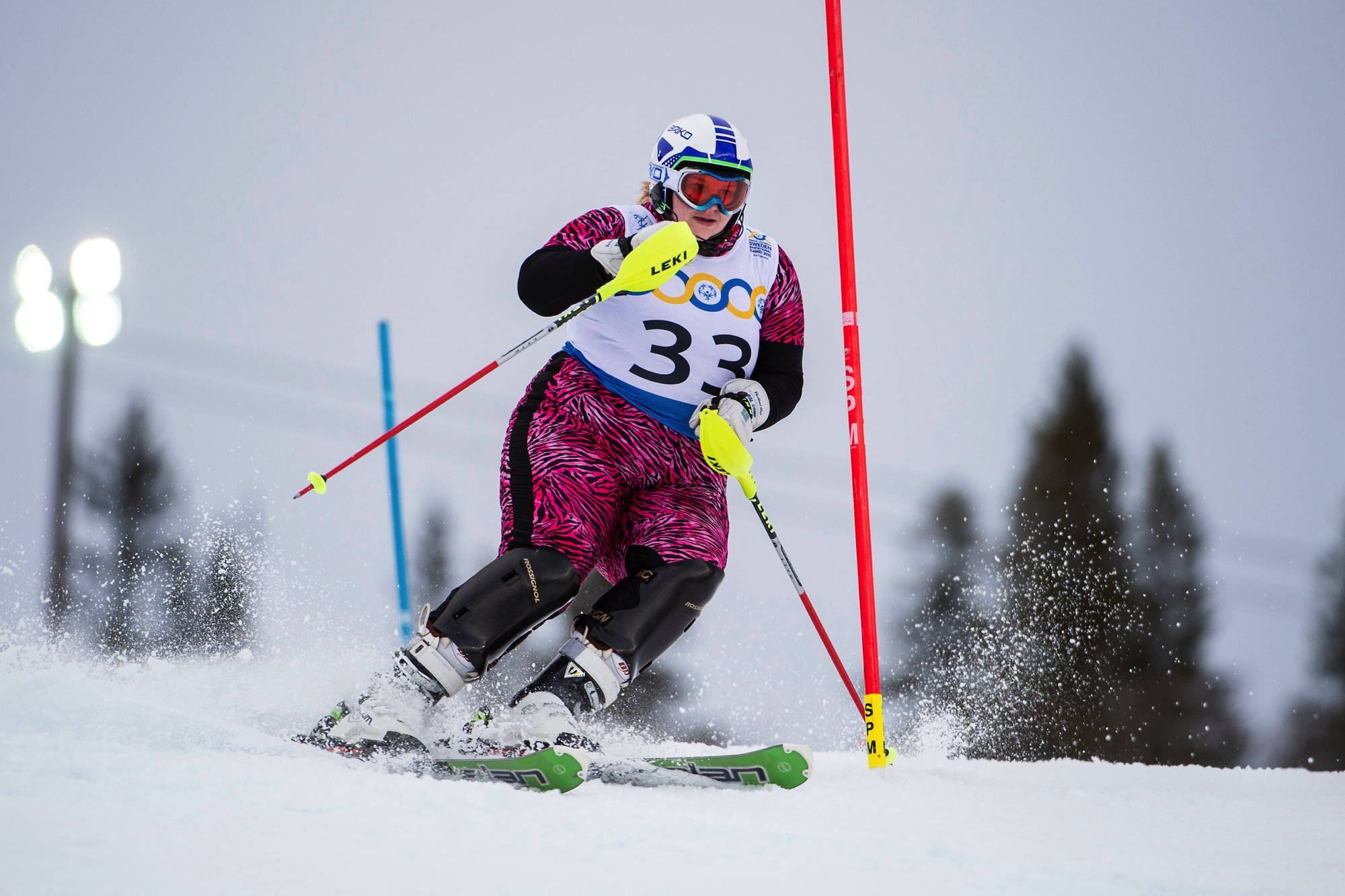 'Pink Panther' Hagberg forges an identity of her own after supreme slalom display